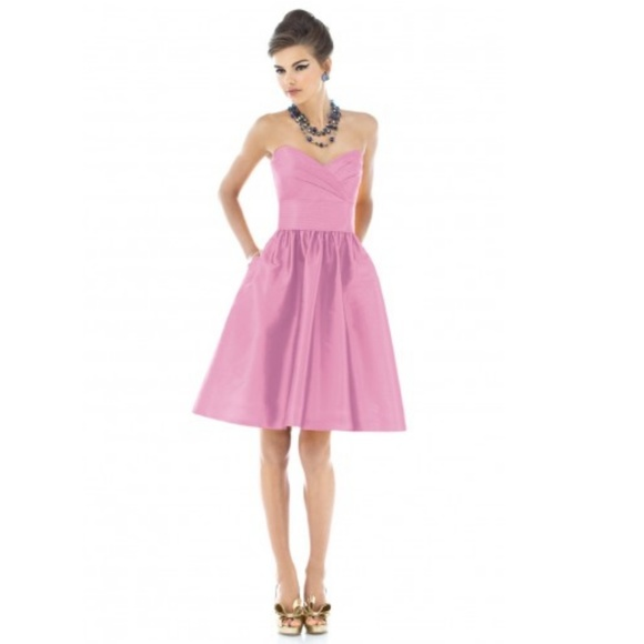 ALFRED SUNG Dresses & Skirts - Pink Homecoming Dress size 4